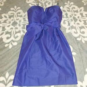 NWT J Crew Purple Strapless Dress